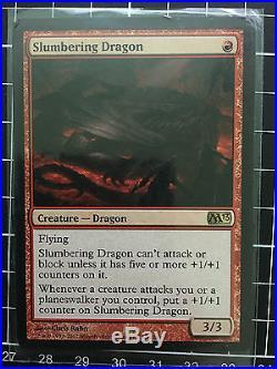 Slumbering Dragon MINT Rare Dragon Magic 2013 MTG Magic the Gathering