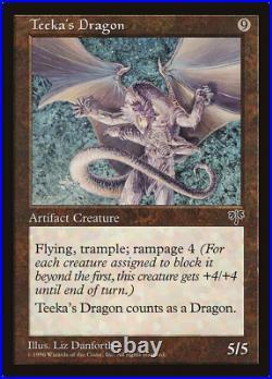 Teeka's Dragon X (4) MTG Mirage Excellent/ Near Mint 4RCards