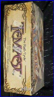 Tempest Booster Box mtg sealed 13+ years Great Condition RARE Factory Sealed ENG