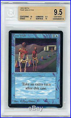 Time Walk Beta, BGS 9.5 with 2 10 subs. GEM MINT. MTG (pop 1 of 41)
