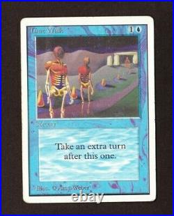 Time Walk Unlimited Edition Power 9 MTG Magic the Gathering Reserved List Inked