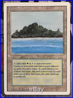 Tropical Island MTG MP Front LP Back Revised 3rd Ed English Magic