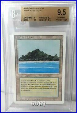 Tropical Island Revised BGS 9.5 GEM MINT MTG Dual Land 1994 Vintage Magic