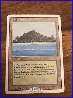 Tropical Island Revised Edition LP Rare Magic The Gathering Card