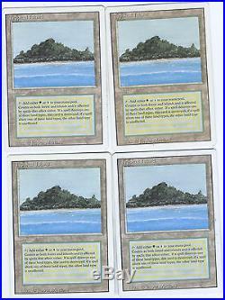 Tropical Island Revised Magic The Gathering Rare x4 PLAY SET