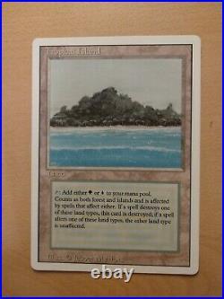 Tropical Island Revised Magic the Gathering MTG Rare Dual Land A+