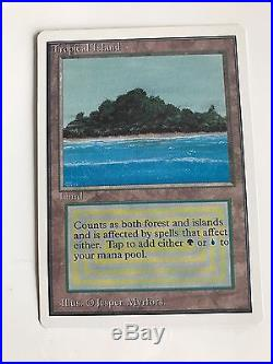 Tropical Island Unlimited Edition Mint Rare Magic The Gathering Card