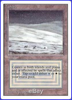 Tundra Used GD MTG Unlimited UL Magic Gathering