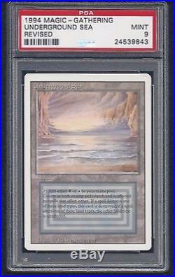 UNDERGROUND SEA, REVISED, DUAL LAND, PSA GRADED MINT 9, STUNNING CARD, RARE