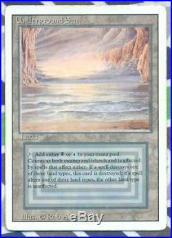 Underground Sea Rare (Black / Blue Dual Land) Revised MTG 3of4 VG/Ex