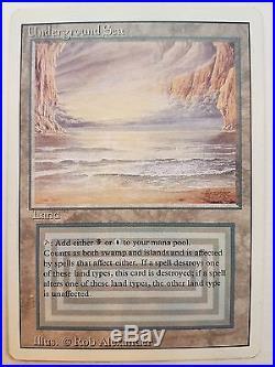 Underground Sea Revised 3rd Magic the Gathering Near Mint Rare Dual Land 1