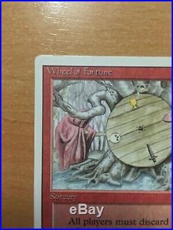 Vintage MTG Revised 3Ed RARE Wheel of Fortune NM Near mint Superb Reserved list