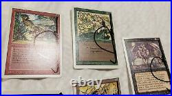 Vintage Magic 7x MTG Revised/3rd Edition SIGNED QUINTON HOOVER Artist Proofs