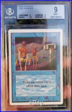 Vintage Magic MINT BGS 9 MTG Unlimited Time Walk, QUAD+9.5, PSA QUALITY
