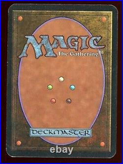 Vintage Magic MTG Alpha Mox Sapphire withCOA from Peter Adkison ex-CEO of WOTC
