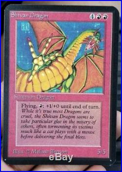 Vintage Magic MTG Alpha Shivan Dragon NM/MINT Condition, OLD SCHOOL