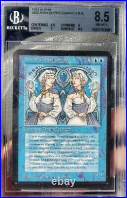 Vintage Magic NM/MINT+ BGS 8.5 MTG Alpha Vesuvan Doppelganger. 5 from 9