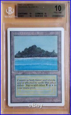Vintage Magic PRISTINE MTG BGS 10 Unlimited Tropical Island 3x 10 + 9.5 SUBS