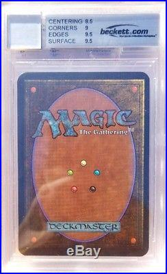 Vintage Magic SIGNED MINT BGS/JSA/BAS 9/10 MTG Alpha Mind Twist, with2x 9.5 SUBs