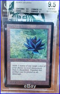 Vintage Magic STUNNING BGS 9.5 MTG Beta Black Lotus, QUAD potential
