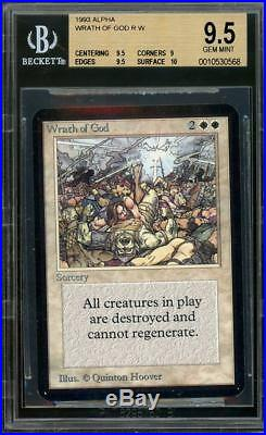 Wrath of God Alpha, BGS 9.5 GEM MINT. MTG (pop 1 of 23)